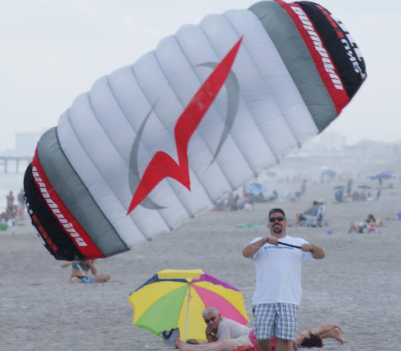 Kite flying on Cape Canaveral Beach Florida
