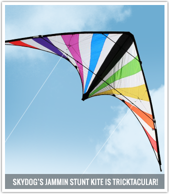 The Jammin is a high performance mid-sized trickster with all the bells and whistles that are expected from an advanced trick kite