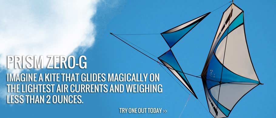 Imagine a kite that glides magically on the lightest air currents, defying gravity with the lift of a high-performance sailplane and weighing less than 2 ounces.