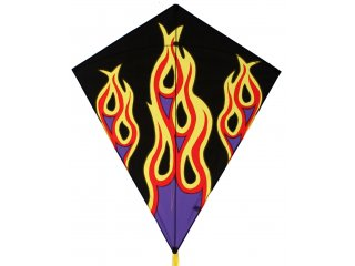 40 in. Diamond Kite (Flames)