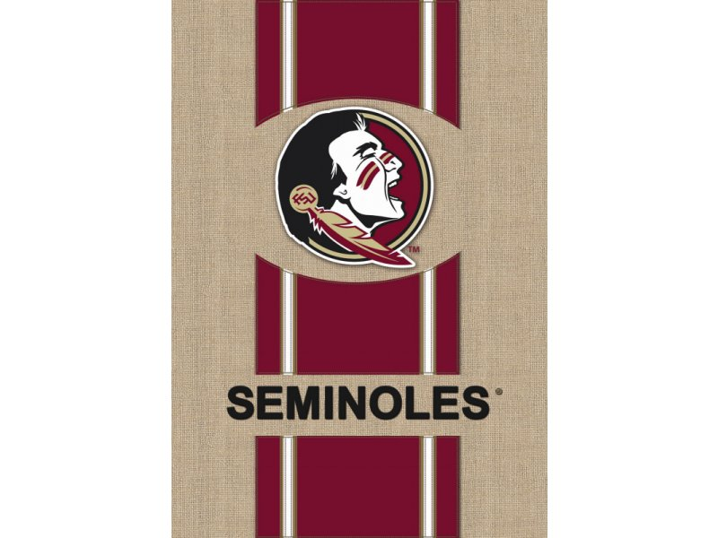 Burlap Garden Flag (Florida State University)