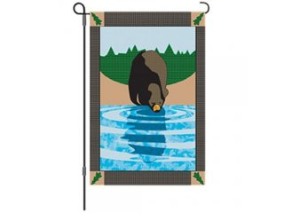 Garden Flag (Woodland Bear)