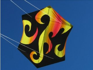 78 in. Rokkaku Kite (Hot Flames)