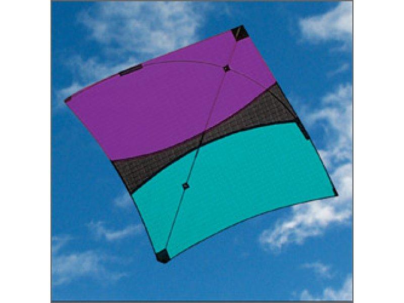 Itw Hoopty Fighter Kite Purple Black Aqua Kite Stop