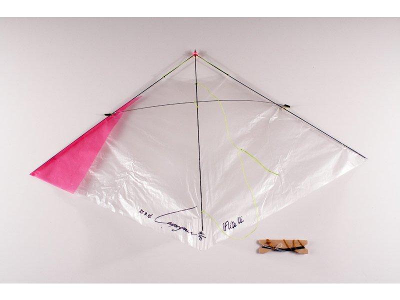 Iflite ui indoor glider kite pink kite stop kites for Indoor kite design