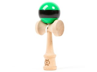 Tribute Kendama Striped (Green/Black)