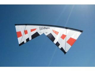Revolution John Barresi B-Series Quad-line Kite (Red/White/Black)