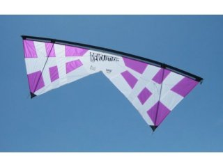 Revolution John Barresi B-Series Quad-line Kite (White/Purple)