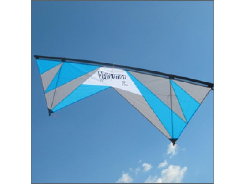 Revolution 1.5 SLE Quad-line Kite (White/Bright Blue/Gray)