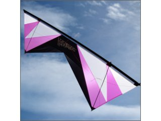 Revolution 1.5 SLE Quad-line Kite (Black/White/Purple)