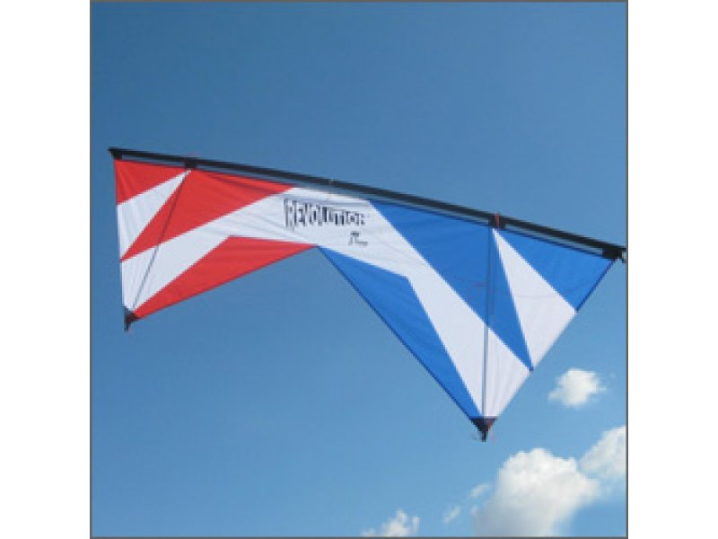 Revolution 1.5 SLE Quad-line Kite (Red/White/Blue)