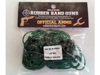 Rubber Band Gun Ammo 1 oz Bag (Green)