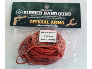 Rubber Band Gun Ammo 1 oz Bag (Red)