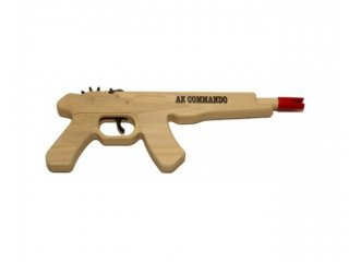Rubber Band Gun (AK Commando Pistol)