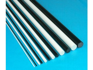 Solid Round Fiberglass Rod (.098in x 48 in) - White