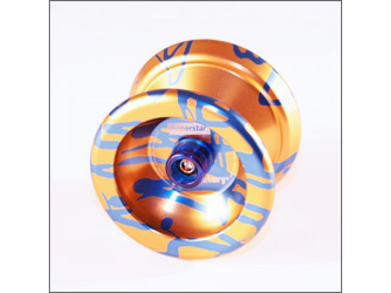 YoYoFactory SuperStar Yo-Yo (Gold with Blue Splash)