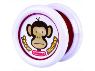 Duncan Throw Monkey Yo-Yo (White/Red)