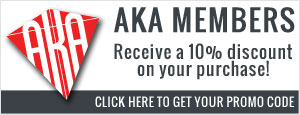 Are you an AKA Member? Click here to find out how to get 10% off your purchases.