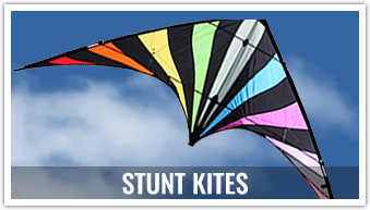 If you are looking for excitement and activity, you can't beat a stunt kite. Flown with 2 or 4 lines, these kites are as exciting as they come.