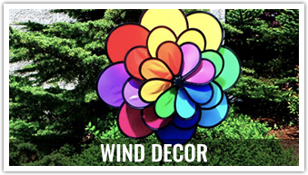 Looking to decorate your yard or flying field? These wind decor items are sure to brighten up your day.