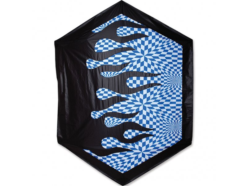 78 in. Rokkaku Kite (Op Art Flames)