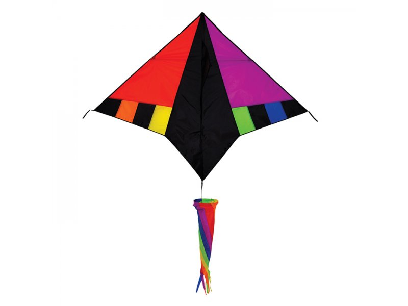 60 in. Delta Kite (Rainbow Zephyr)