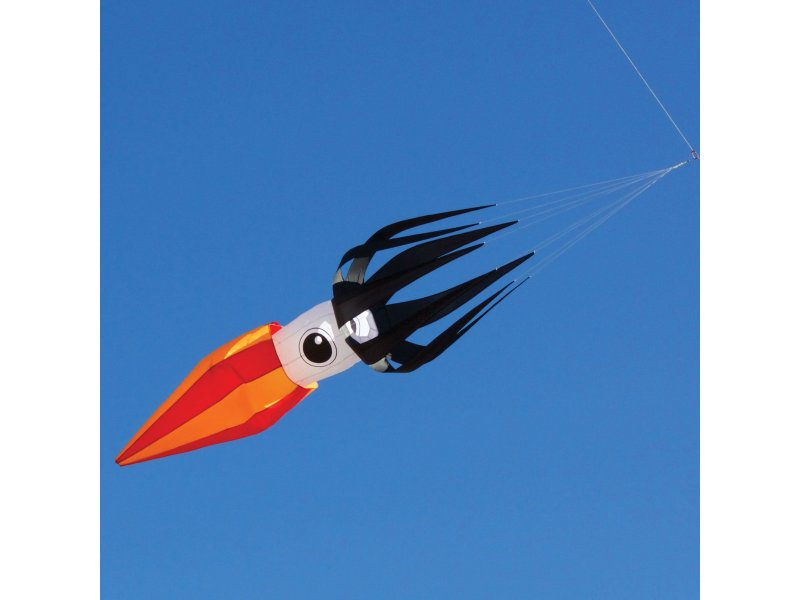 ITW 11-ft Flying Squid Kite Line Laundry (Black)