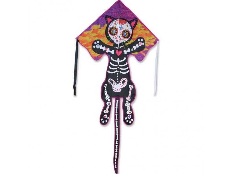 Large Easy Flyer Delta Kite (Day of the Dead Cat)