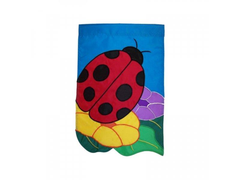 Garden Flag Ladybug And Flowers Kite Stop Kites