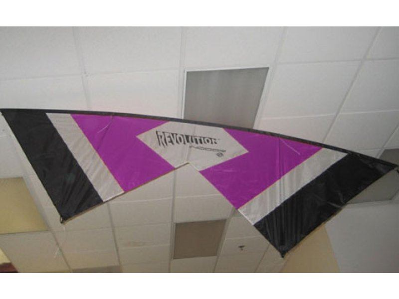 Revolution Indoor Quad-line Kite RTF (Purple/White/Black)