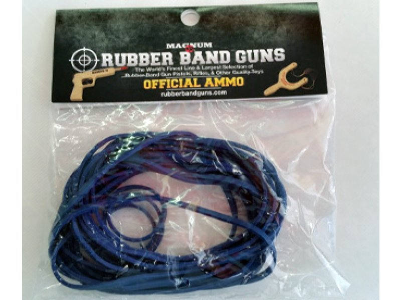 Rubber Band Gun Ammo 1 oz Bag (Blue)