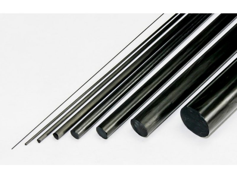 Solid Round Carbon Rod (.118in x 48 in) - Black