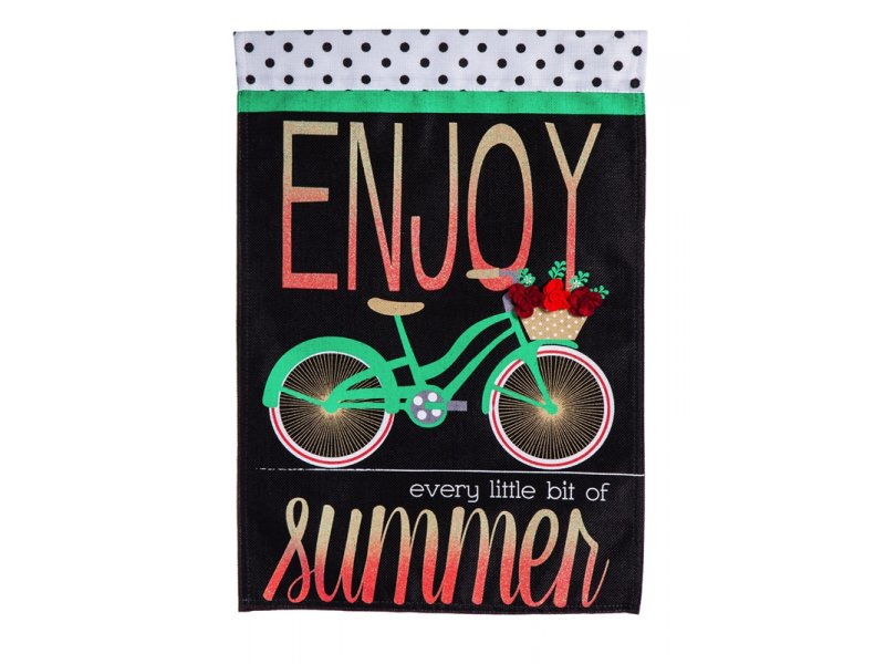Burlap Garden Flag (Summer Bicycle)